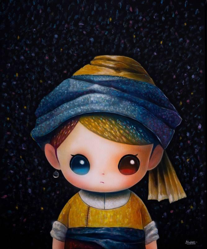 Yosuke Ueno作品〈A Girl With Pearl Earing〉。圖/VINS Gallery提供