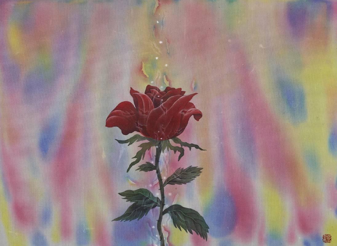 劉信義 Liu Hsin Yi / 生命之愛 A Love for Life , 35×26 cm , 水墨絹本設色 Colored ink on silk , 2021