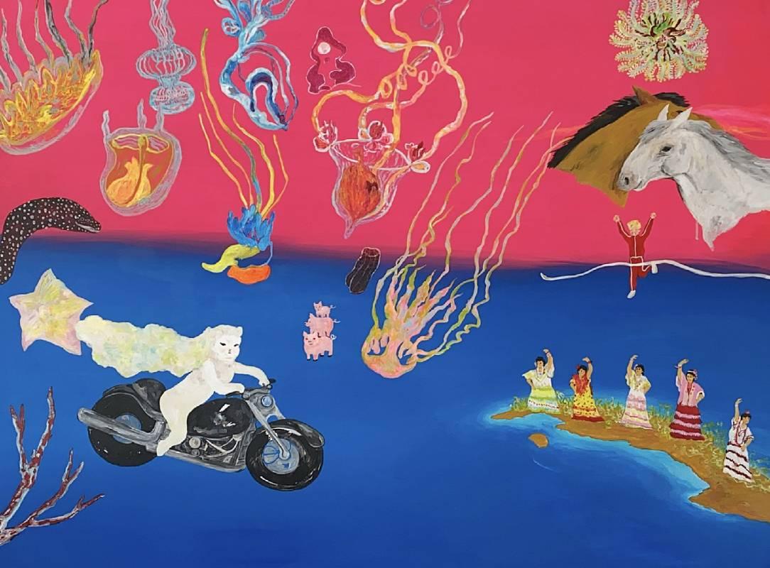 李佩姍  一秒到哈瓦那  壓克力顏料、畫布   130×97cm