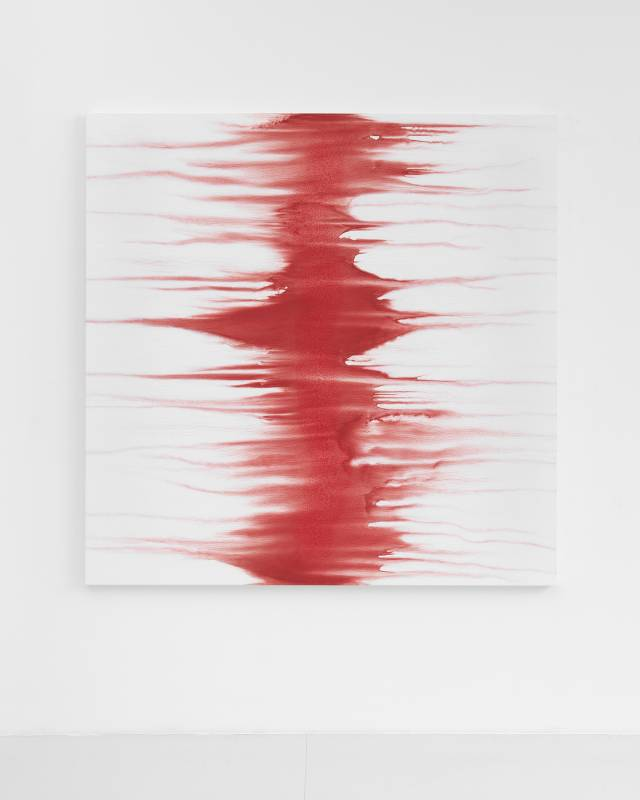 SHIRAZEH HOUSHIARY 《Styx》190 x 190 cm,pigment, pencil, and white aquacryl on canvas and aluminum,2018