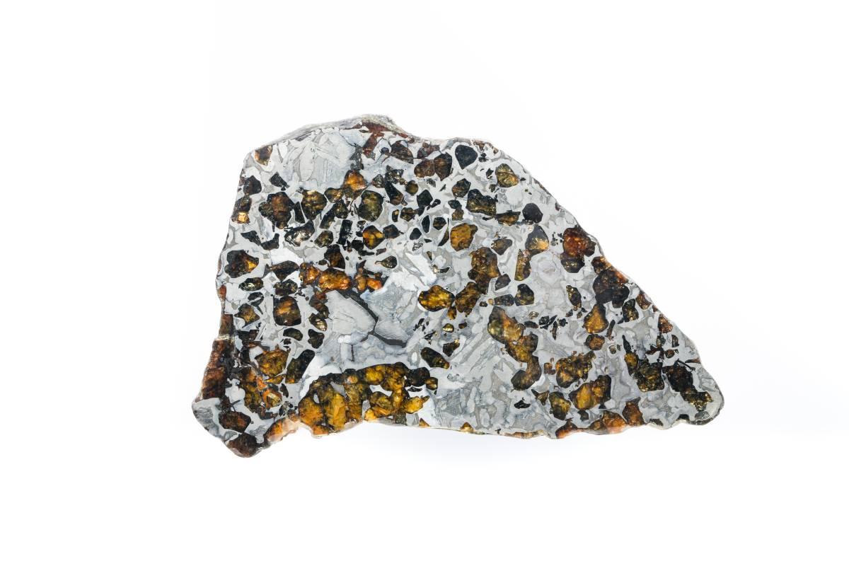 華麗星體馬賽克鑲嵌畫-隕石切片SEYMCHAN METEORITE