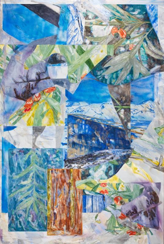 許聖泓 SHIU Sheng-Hung,深時 The Glacial Landscape#3,2021,壓克力顏料、油彩、合成色粉、天然色粉(赭石、綠土、鈷、青金石)、畫布