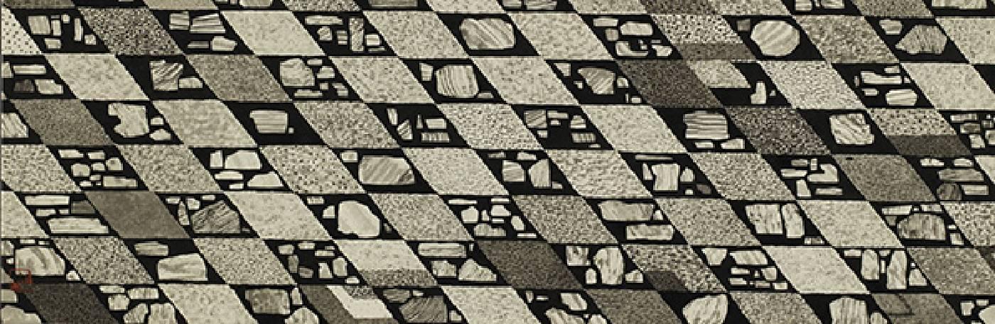 藝術家:邱奕寧  標題:大理石公園 II 尺寸:21.5 * 65 cm 材質:紙本水墨設色  年代:2021