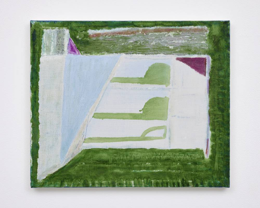 杉戸洋 Sugito Hiroshi, untitled, 2021, 畫布油彩 oil on canvas, 38.2 x 45.5 cm © Hiroshi Sugito, Courtesy of Tomio Koyama Gallery