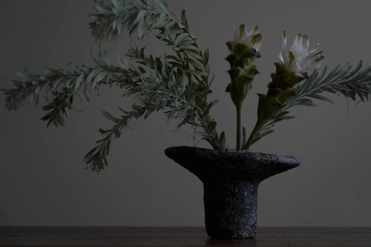 版畫紙雕塑 - 三分之一斜口花器