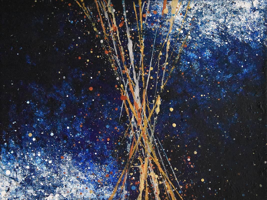 《丈量宇宙的方式 3》,40×30 cm,壓克力、畫布 ,2021