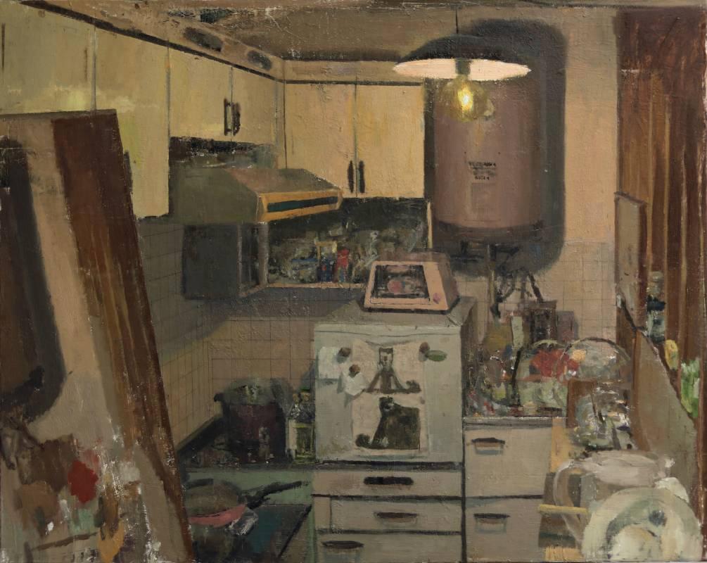 對像畫(廚房).91*72 .2021