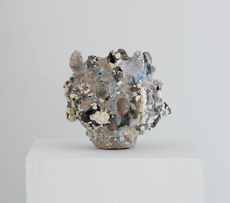 【Untitled】 28*28*24.5 cm 釉薬/色釉薬/色化粧/花崗岩/カオリン Glaze, Colored glaze, Colored slip,Granite, Kaolin 2021