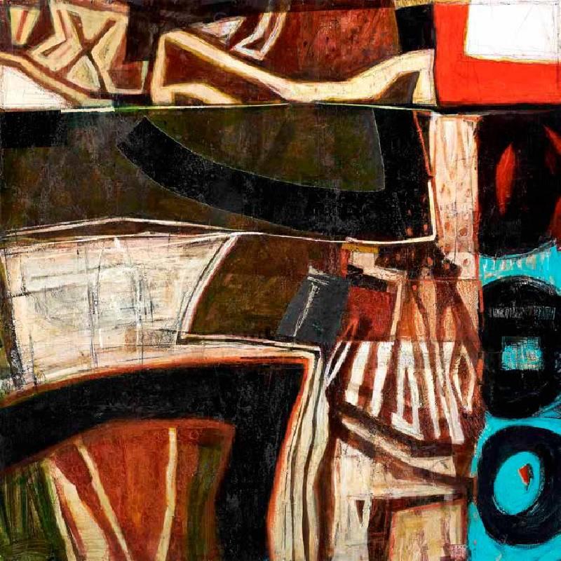 林熺俊《 入徑而行- 系列11 》 120×120CM Acrylic on canvas 2020