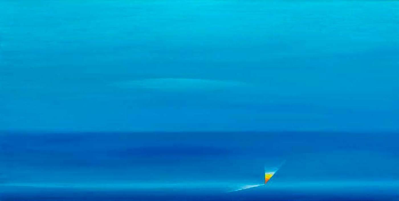 陳建大明《 悠然-1 》 45×90CM Oil on canvas 2015