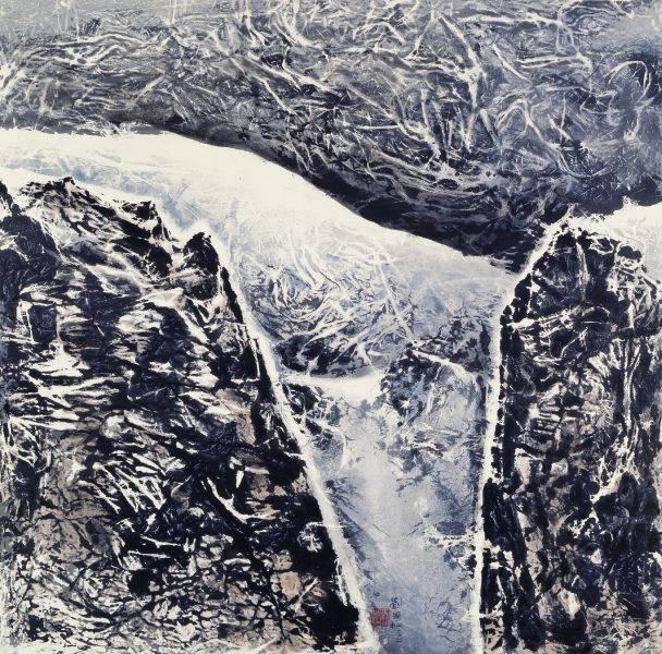 劉國松-網山的白線:西藏組曲165