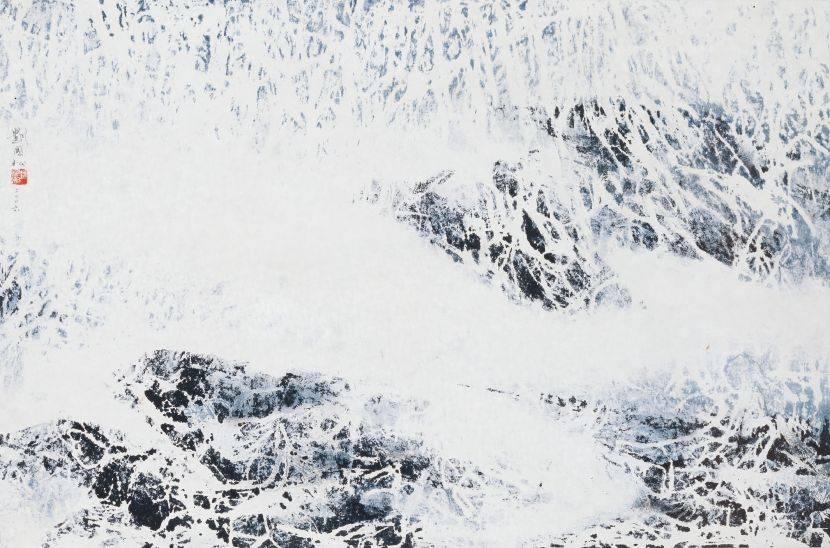 劉國松-銀色大地:西藏組曲八十七