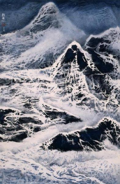 劉國松-冰河系列之一