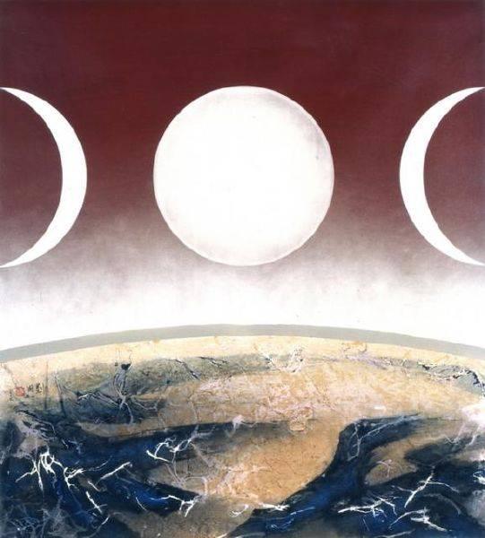 劉國松-太陽的背面是月亮