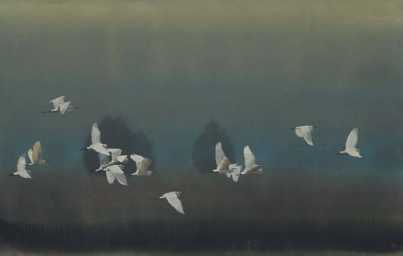 林順雄-飛鷺