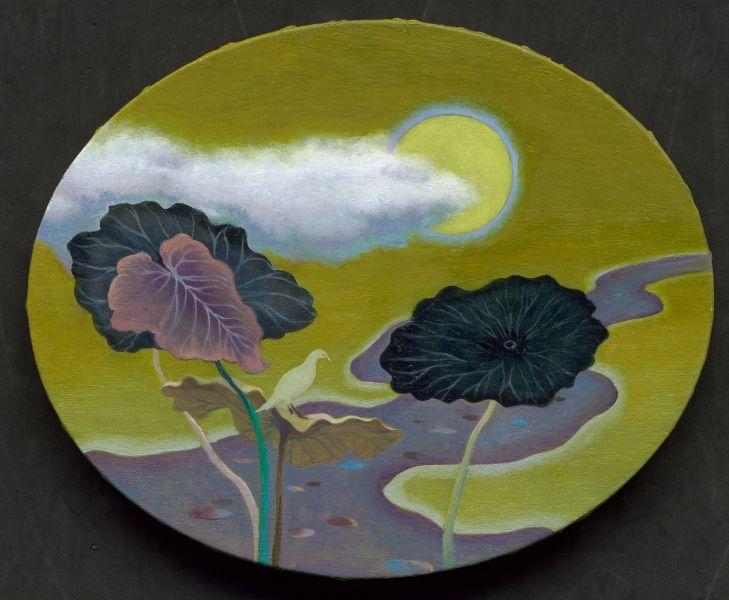 許旆誠-荷裡看月 Peek the moon from lotus