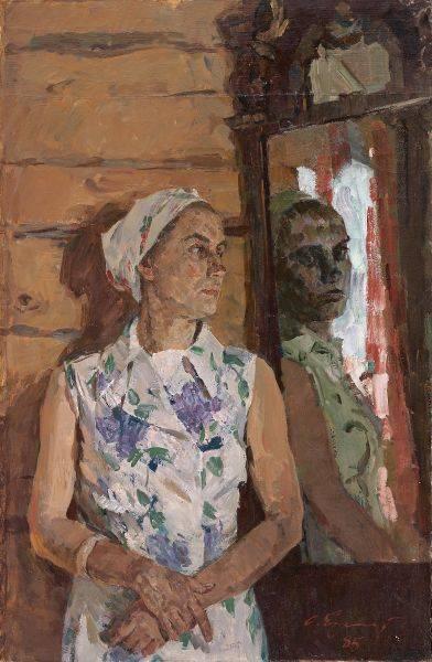 奧列格.葉列梅耶夫-鏡前妻子