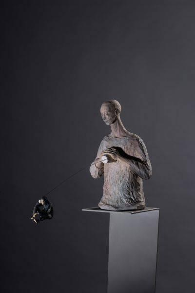 「雲端集銳」–台藝大雕塑系聯展藝術家(木雕組)-曾上杰 傳聲筒