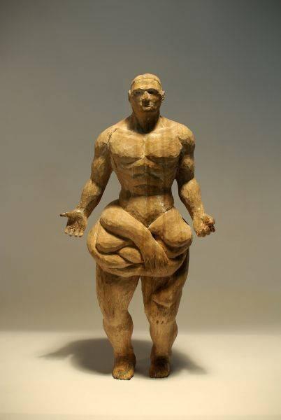 「雲端集銳」–台藝大雕塑系聯展藝術家(木雕組)-林安常 是壯不是胖2