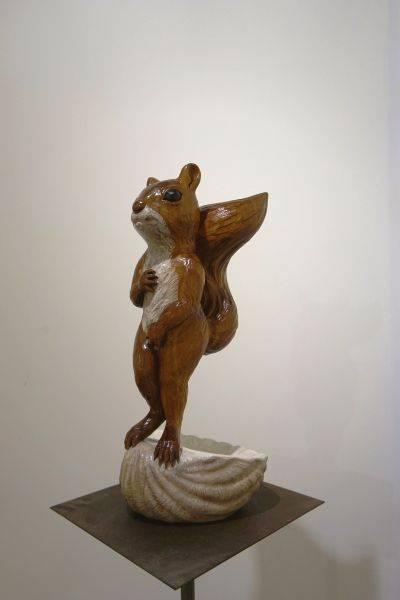「雲端集銳」–台藝大雕塑系聯展藝術家(木雕組)-丁元茜 Venus-松鼠