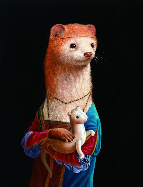 詹喻帆-融古入今系列-拿著貂娃娃的貂少女