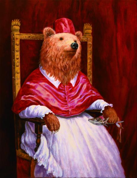 詹喻帆-融古入今系列-穿著紅衣的熊主教