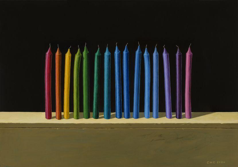 陳宏群-疊構XIV-蠟燭