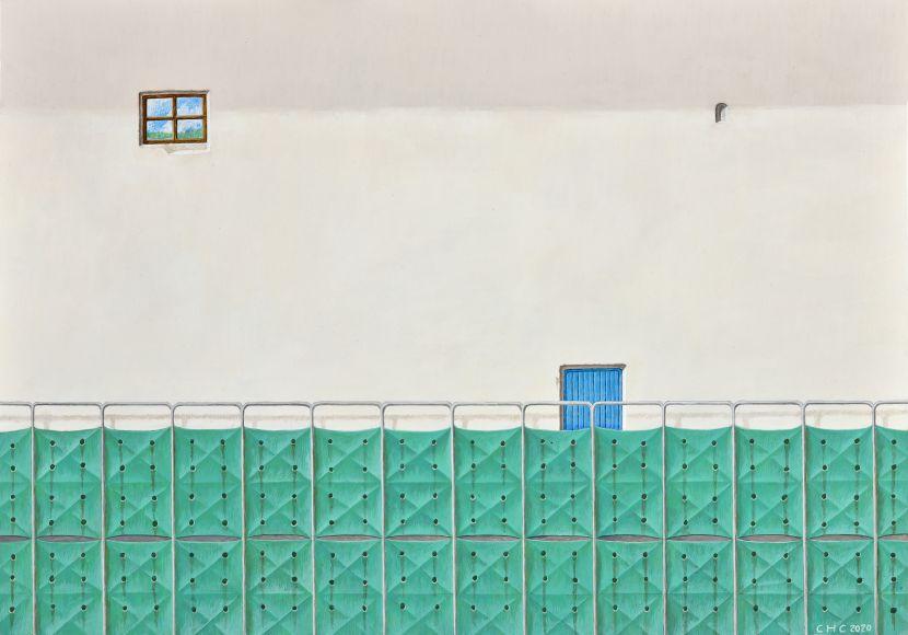 陳宏群-在之間IV-米白色的牆