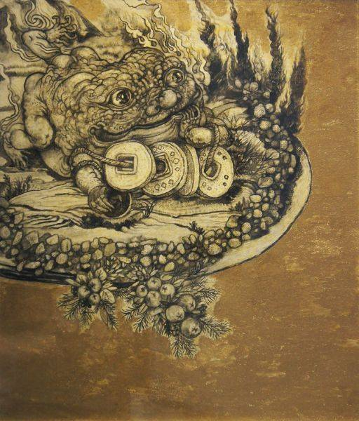 王毓淞-仙盤上的老金蟾