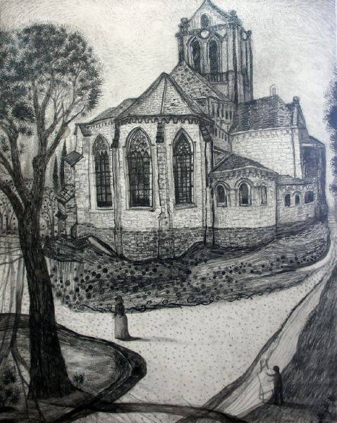 王毓淞-奧維小鎮的教堂