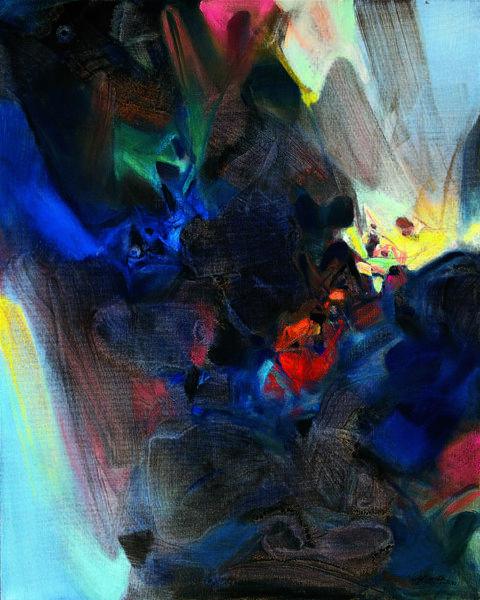 朱德群-藍色的賦格