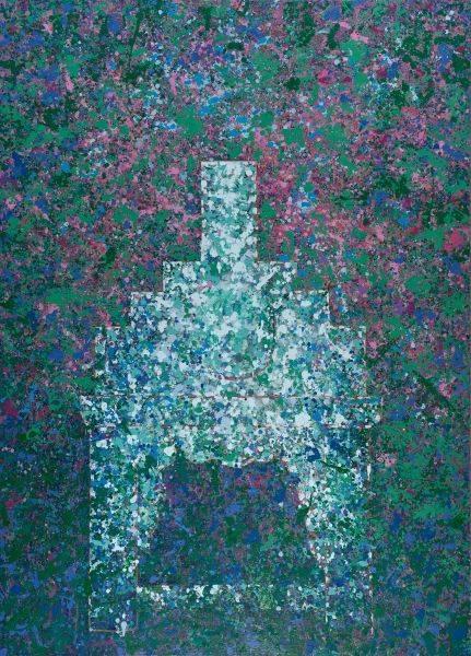 毛旭輝-昆明組畫.一把老椅子和三葉花