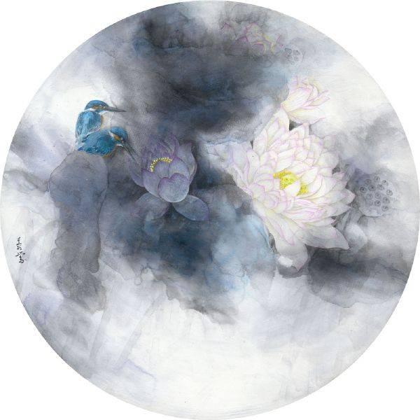 劉蓉鶯-淨賞(荷花)圓型