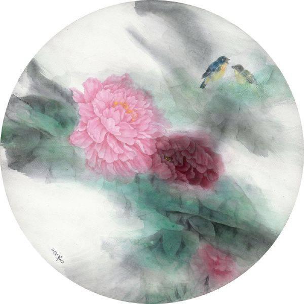 劉蓉鶯-遙想(牡丹)圓型
