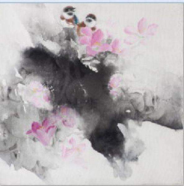 劉蓉鶯-呢喃(洋紫荊、紅頭山雀)