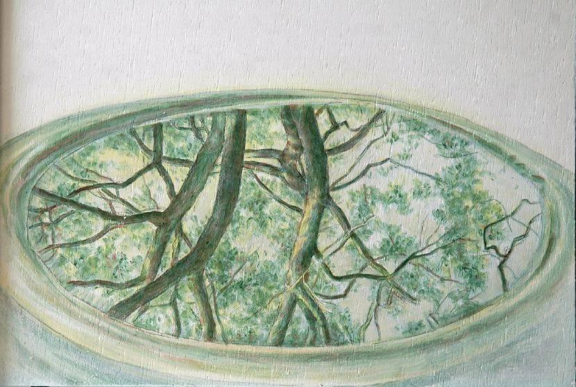 許莉青-小樹林系列:小塘晨景
