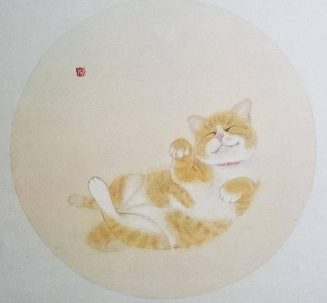 鄭 揚-喵喵酣睡圖(一)