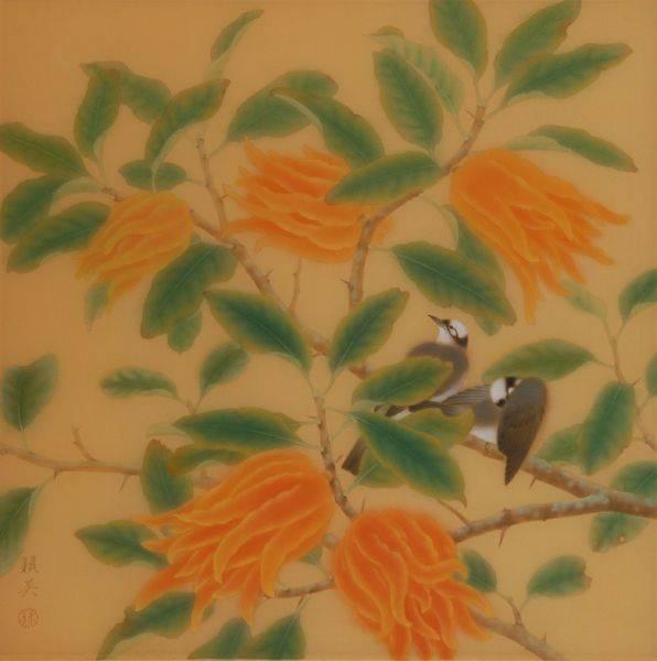 林潁英-小品花鳥(白頭鳥)