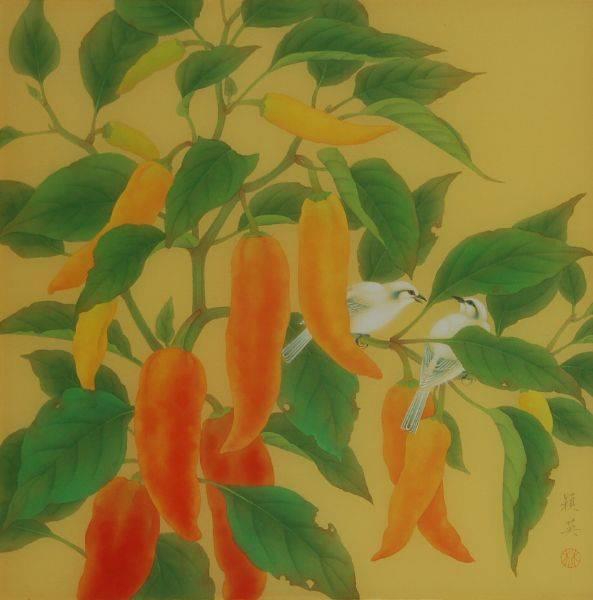 林潁英-小品花鳥(紅椒)