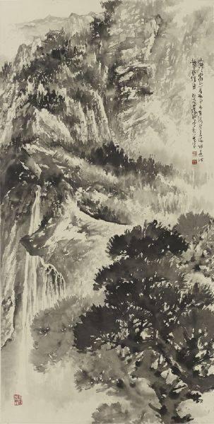 傅狷夫-山高水長
