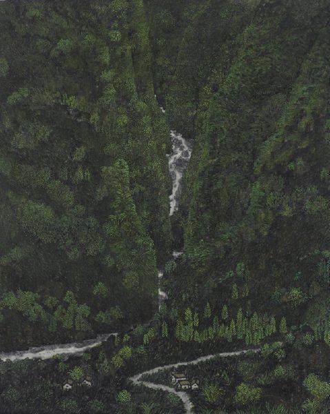 倪再沁-幽壑圖