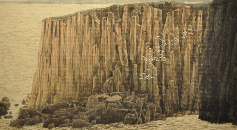 曾中正-澎湖玄武岩柱