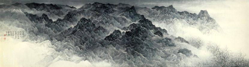 吳繼濤-寒林幽壑