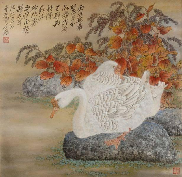 陳子張-紅映江邊