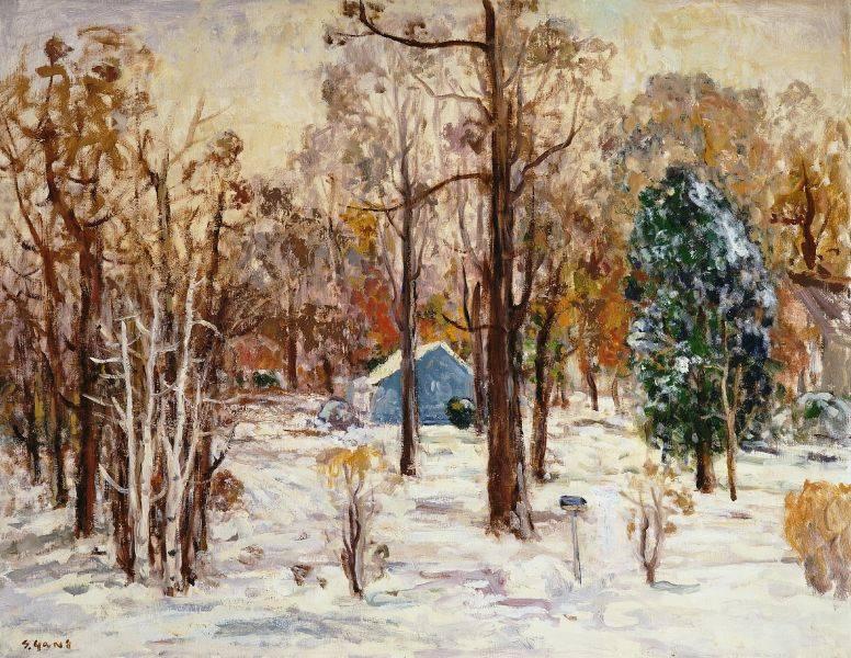 楊三郎-雪景