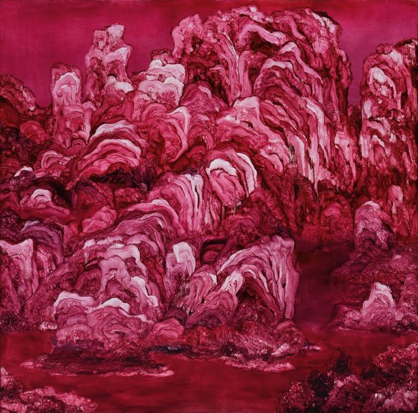 常陵-五花肉系列-肉山水-仰山壯圍圖