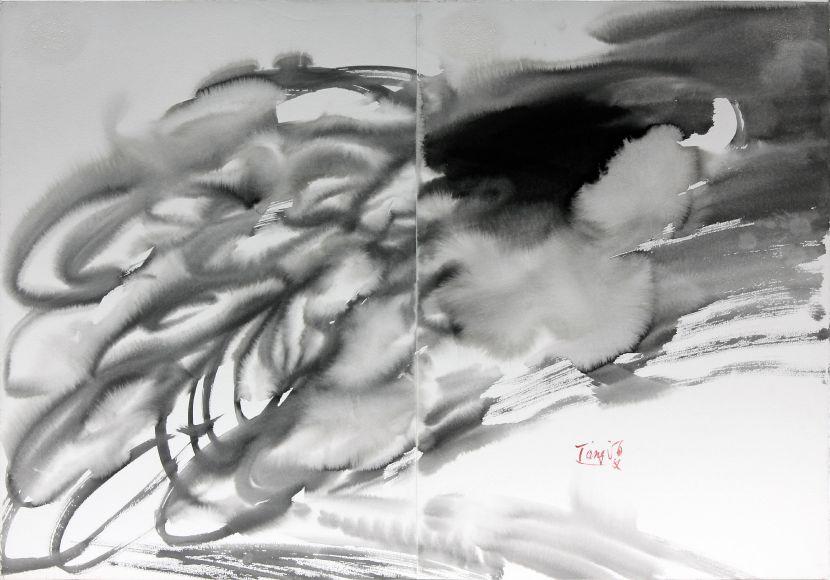 曾海文-無題(抽象水墨)