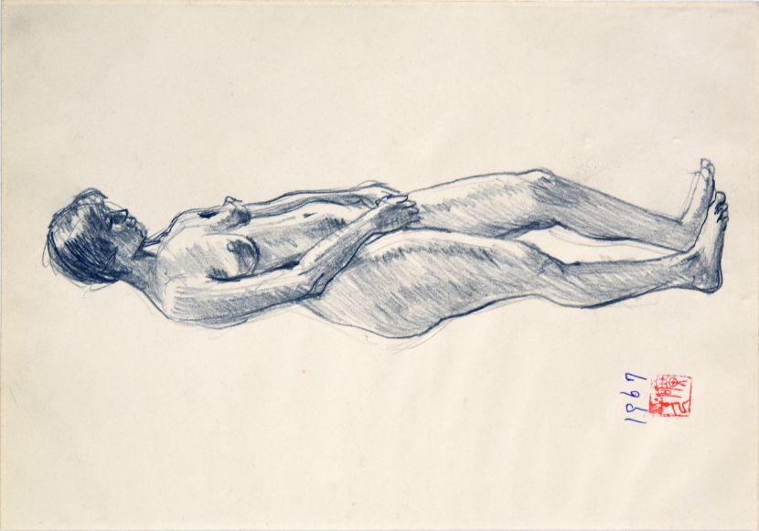 洪瑞麟-裸女立姿