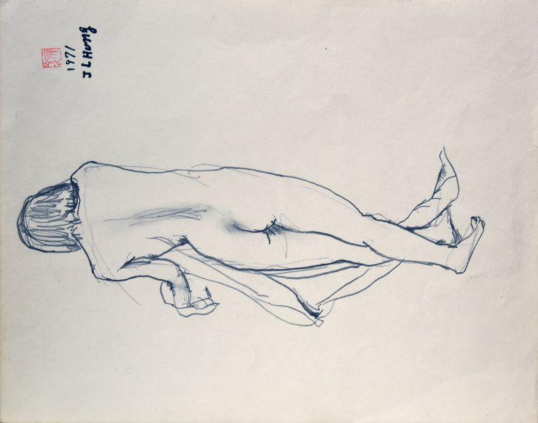 洪瑞麟-裸女背影