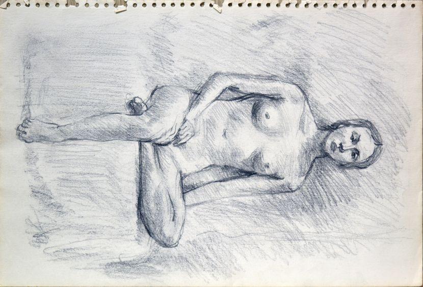 洪瑞麟-裸女習作